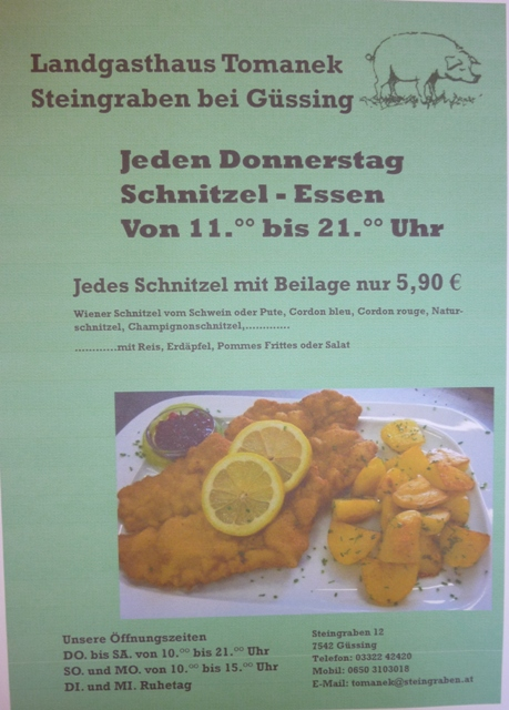 Schnitzel-Donnerstag